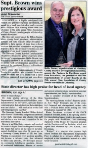 Knox County Board of DD Superintendent Steve Oster featured as Vice President of OACB